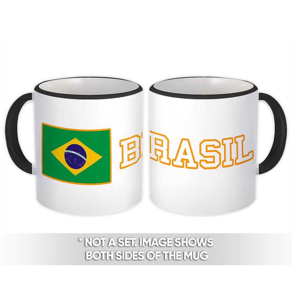 Brazil : Gift Mug Flag Pride Patriotic Expat Brazilian Country