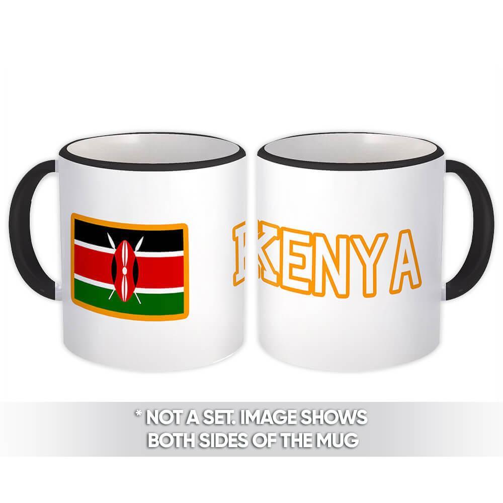 Kenya : Gift Mug Flag Pride Patriotic Expat Kenyan Country