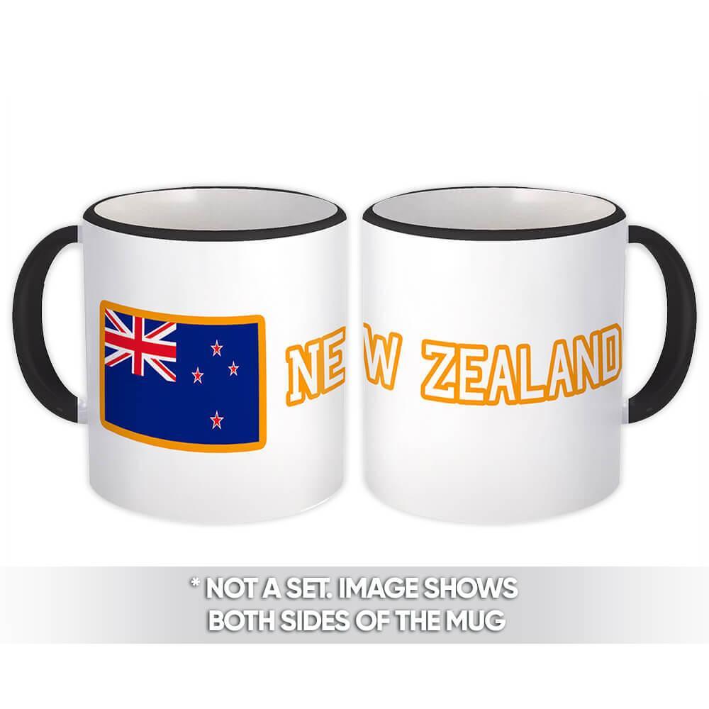 New Zealand : Gift Mug Flag Pride Patriotic Expat New Zealander Country