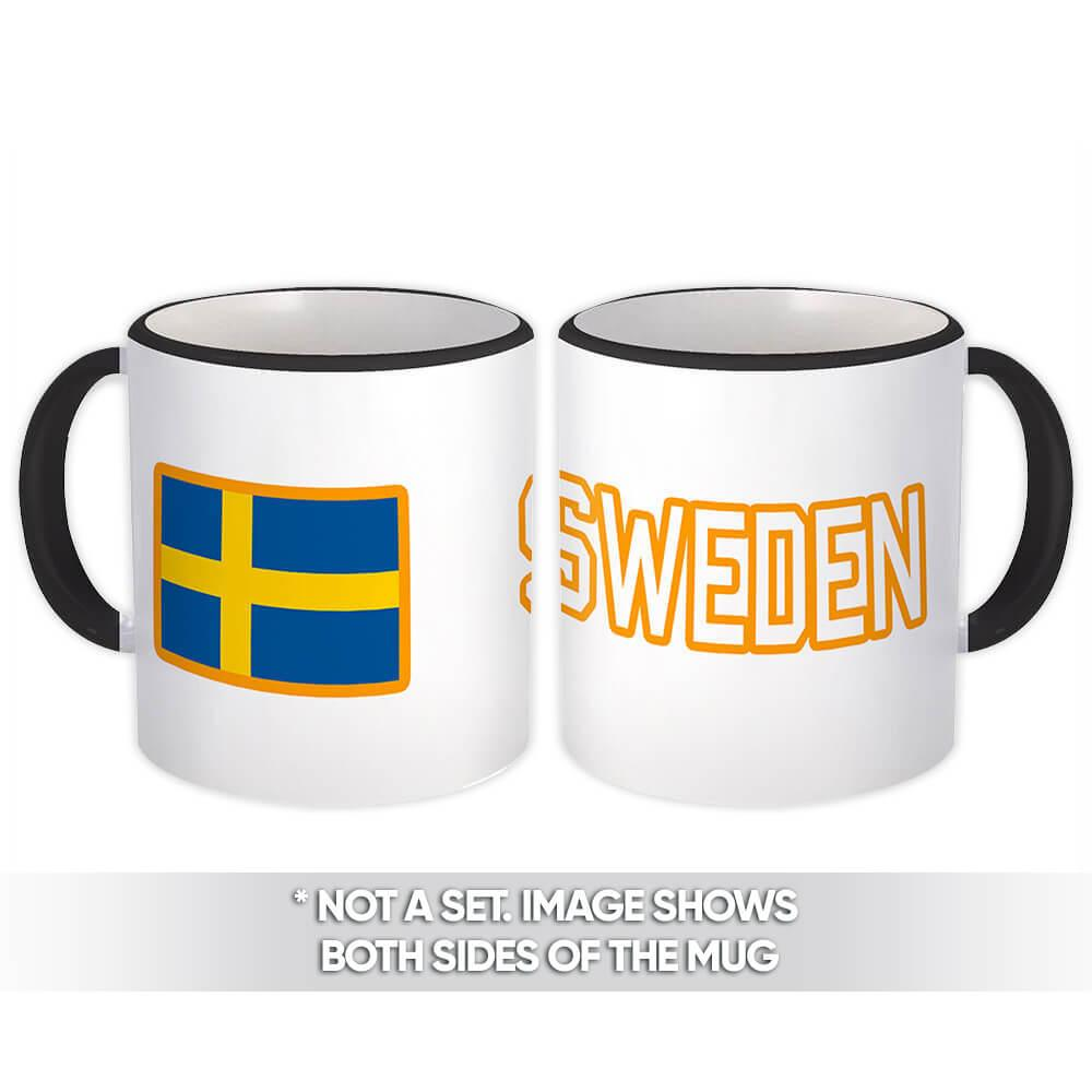 Sweden : Gift Mug Flag Pride Patriotic Expat Swedish Country