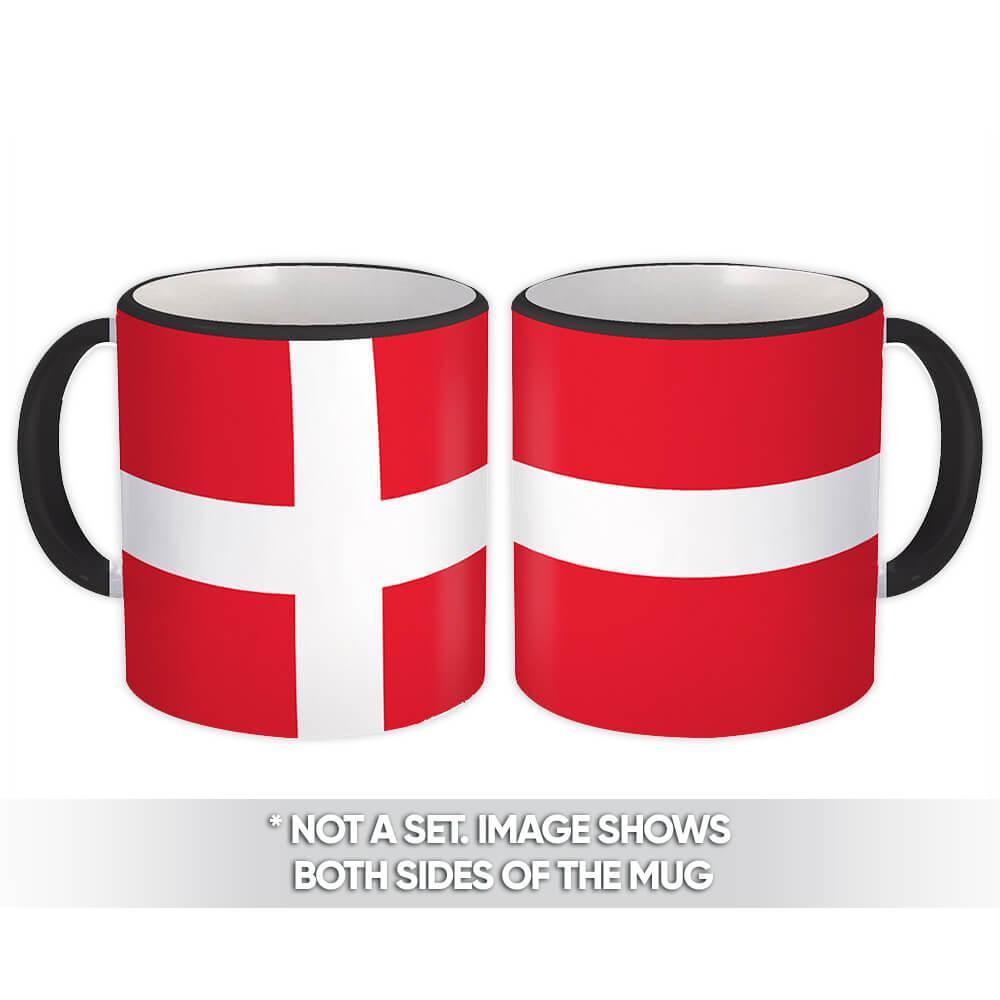 Denmark : Gift Mug Flag Pride Patriotic Expat Danish Country