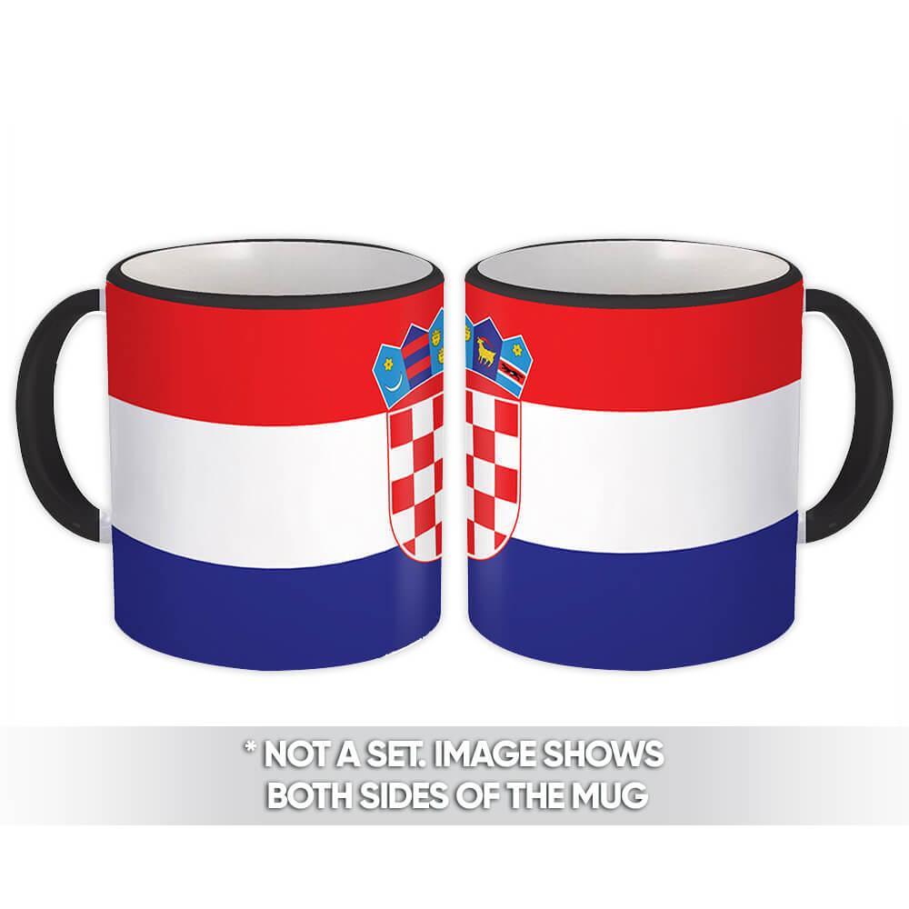 Croatia : Gift Mug Flag Pride Patriotic Expat Croatian Country