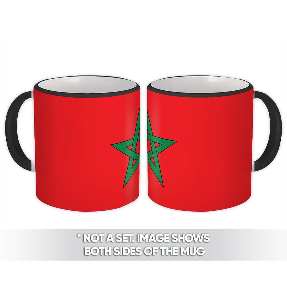 Morocco : Gift Mug Flag Pride Patriotic Expat Moroccan Country