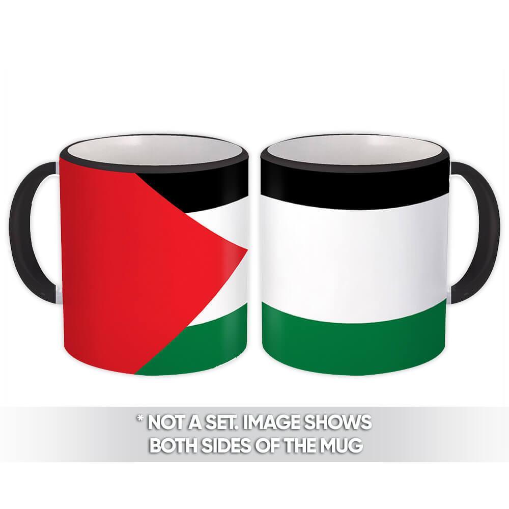 Palestine : Gift Mug Flag Pride Patriotic Expat Palestinian Country