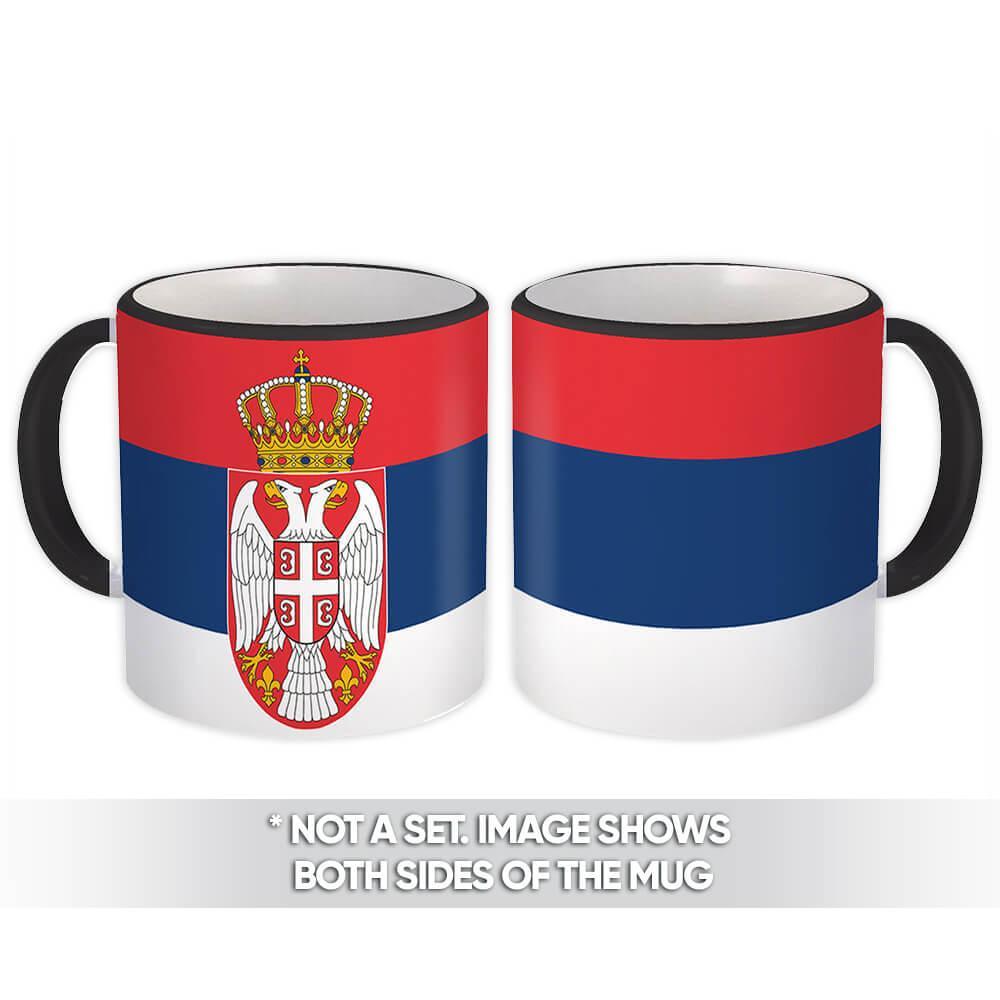Serbia : Gift Mug Flag Pride Patriotic Expat Serbian Country