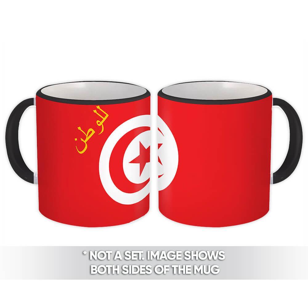 Tunisia : Gift Mug Flag Pride Patriotic Expat Tunisian Country