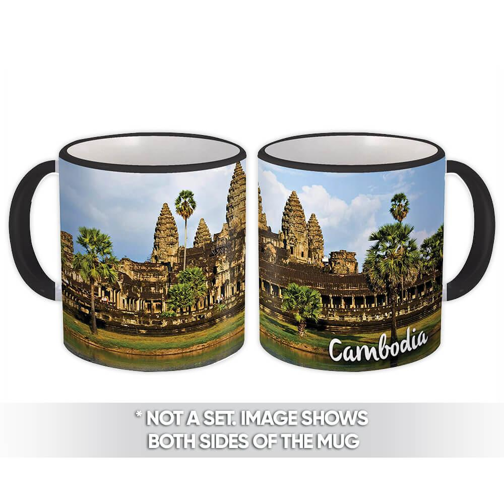 CAMBODIA ANGKOR WAT : Gift Mug Cambodian Pride Flag Country Souvenir Temple