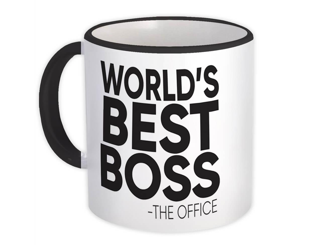 Worlds Best BOSS : Gift Mug Office Work Funny Appreciation Gift Birthday