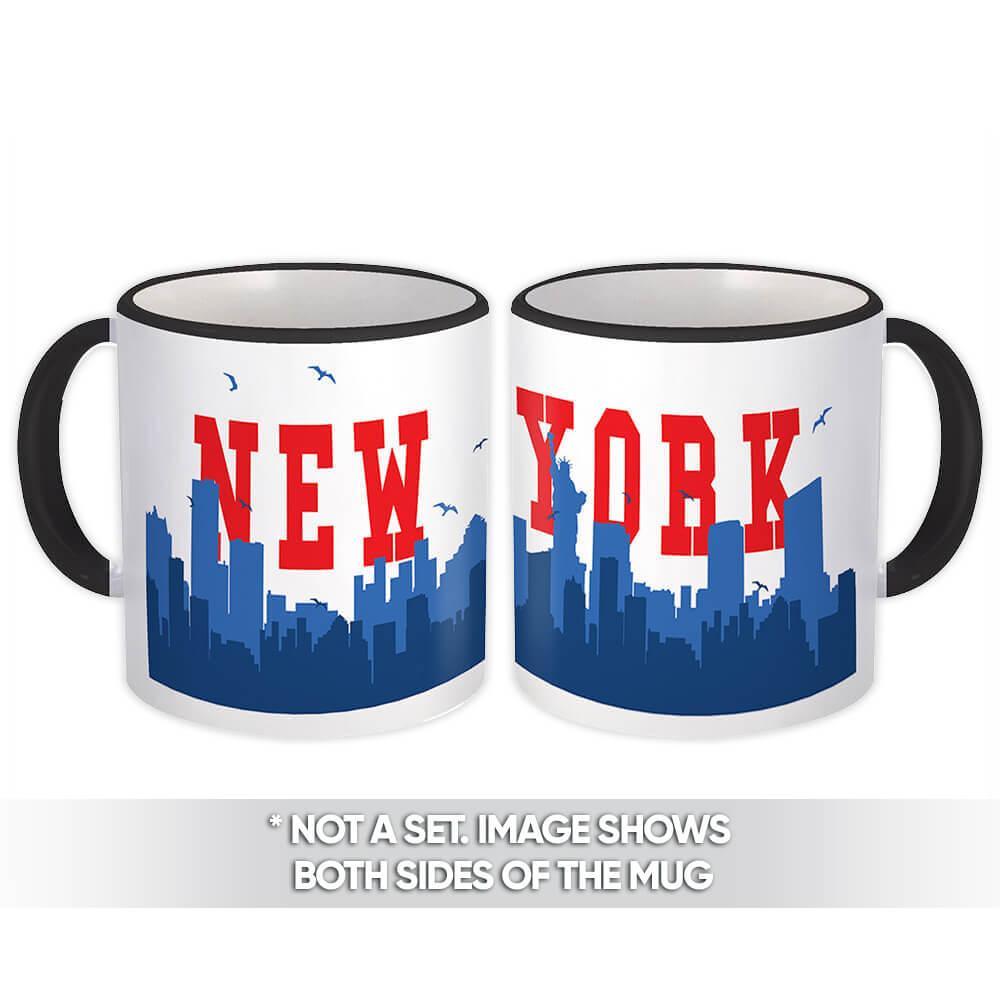 USA New York : Gift Mug Americana United States American Skyline Country