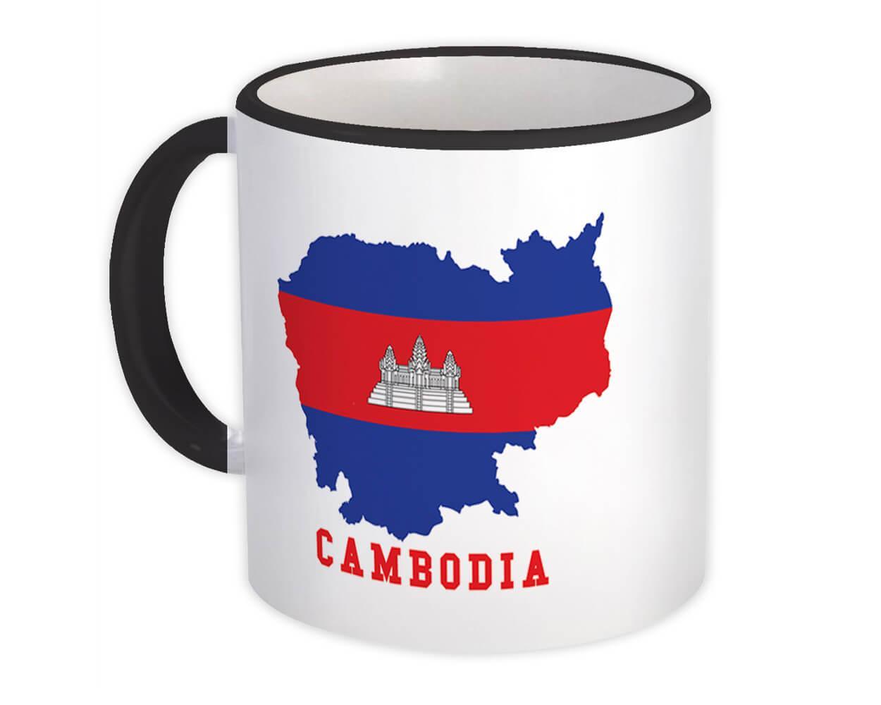 Cambodia MAP Flag : Gift Mug Cambodian Epat Country Pride