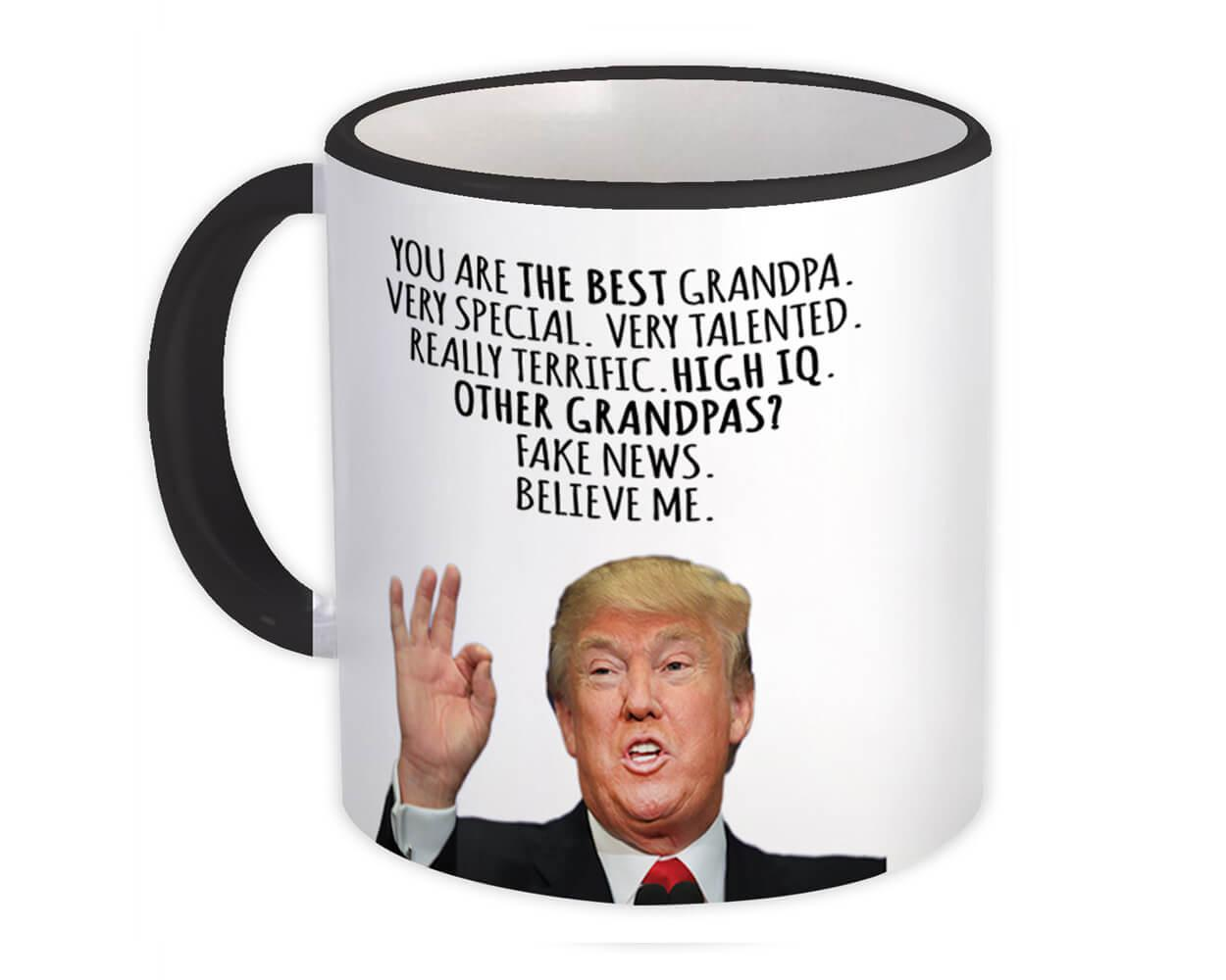 Gift for GRANDPA : Gift Mug Donald Trump The Best GRANPA Funny Fathers Day