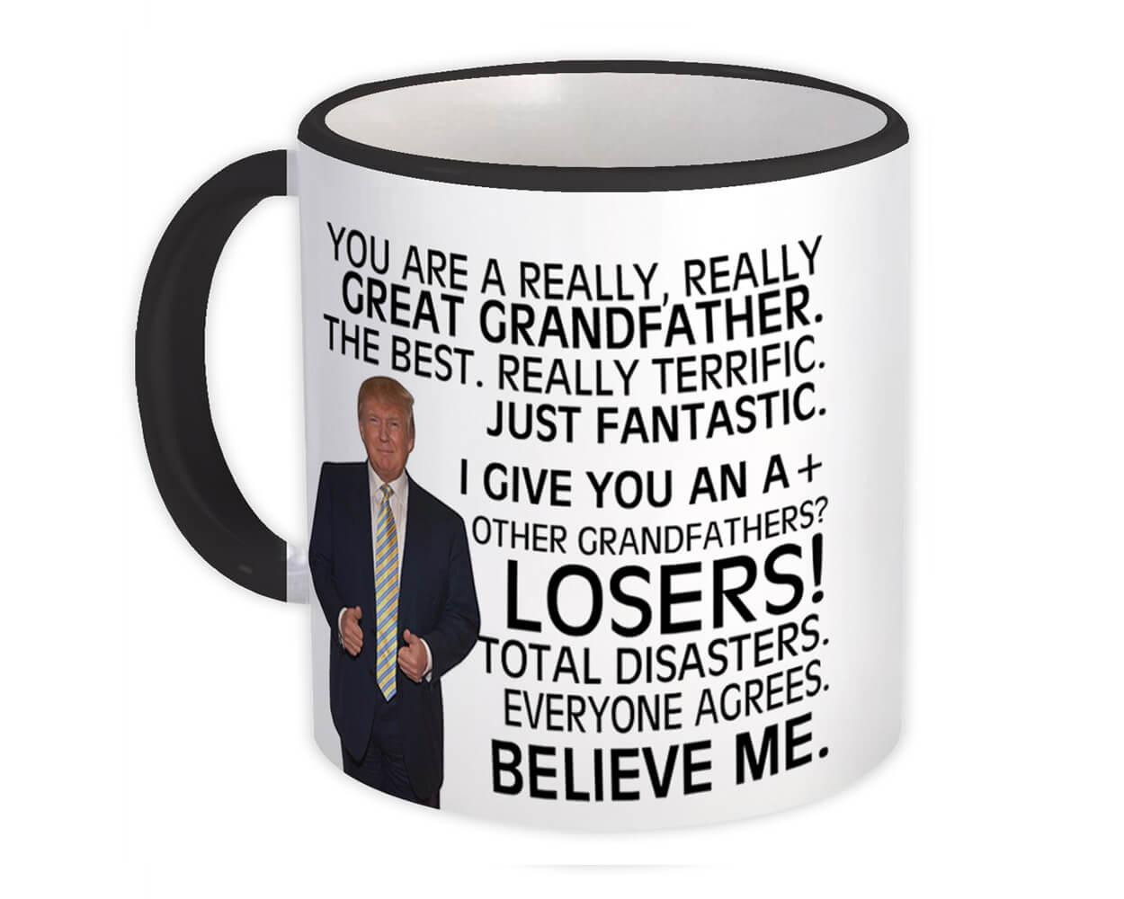 Gift for GRANDFATHER : Gift Mug Donald Trump Great GRANDFATHER Funny Fathers Day