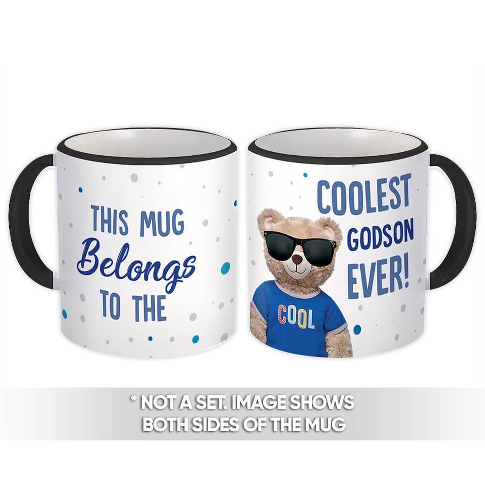 Coolest GODSON Ever Bear : Gift Mug Best Family Christmas Birthday Funny