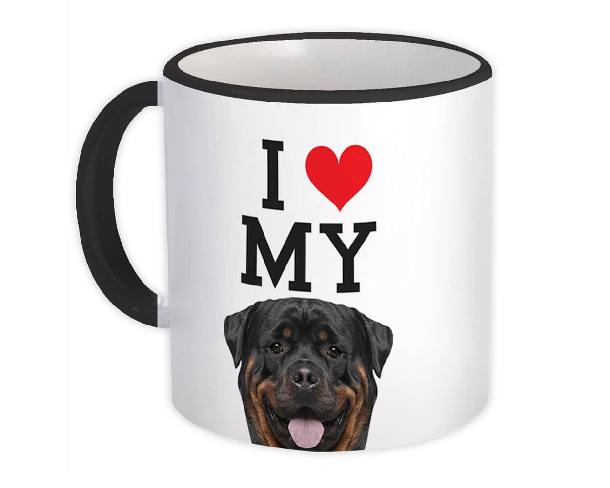 I Love My Rottweiler : Gift Mug Dog Lover Funny Owner Cute Animal Pet