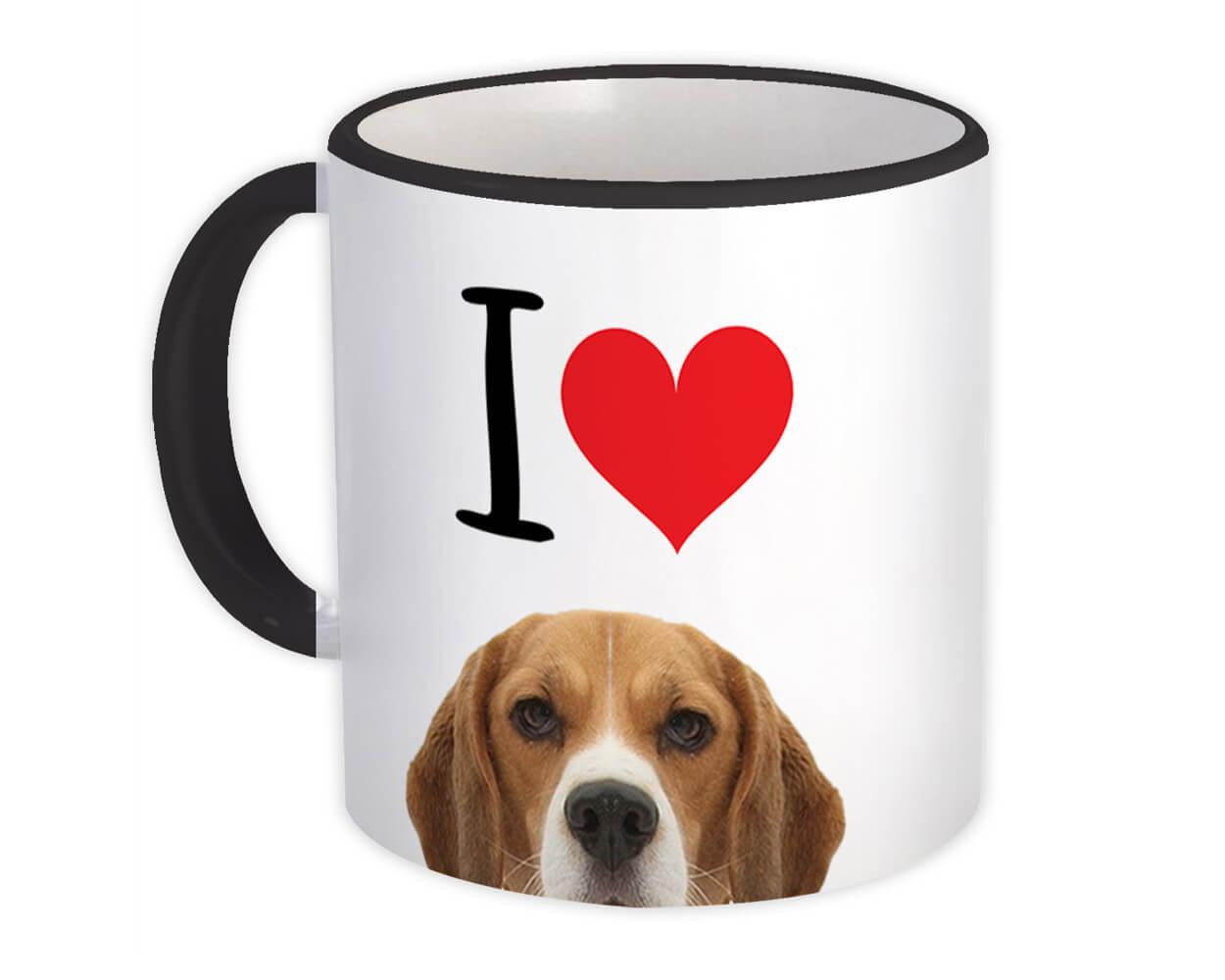I Love Beagle : Gift Mug Dog Lover Funny Owner Heart Cute Pet Mom Dad