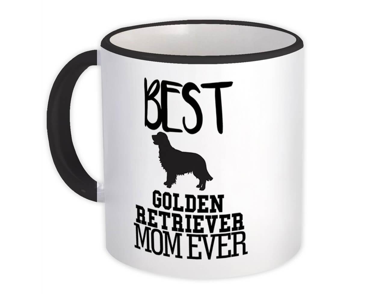 Best Golden Retriever MOM Ever : Gift Mug Dog Silhouette Funny Pet Cartoon Owner