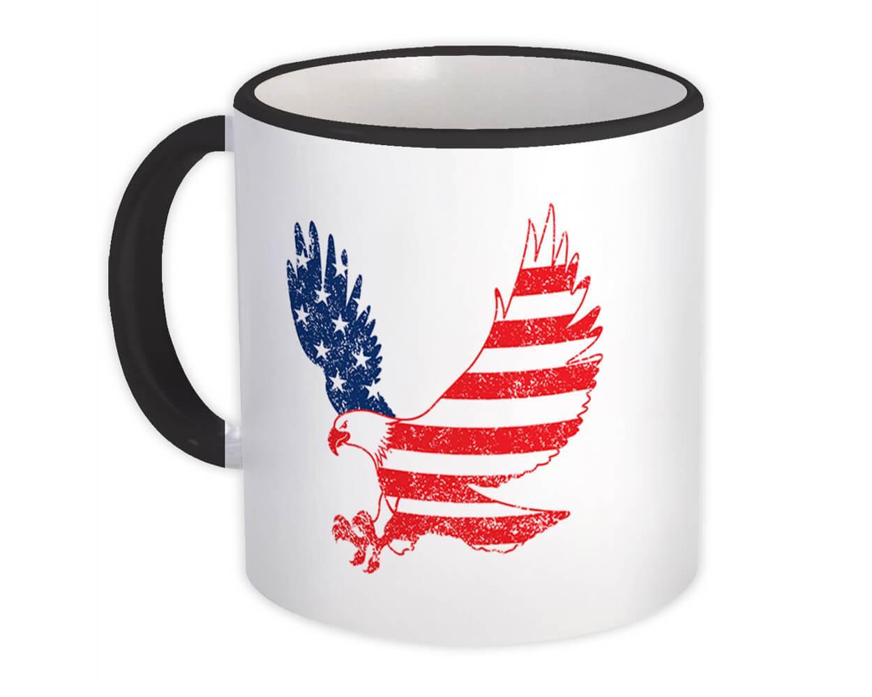 Eagle American : Gift Mug Flag USA United States Patriotic Stars & Stripes