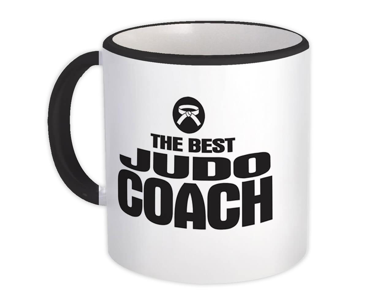 The Best Judo Coach : Gift Mug Sports Trainer Martial Arts