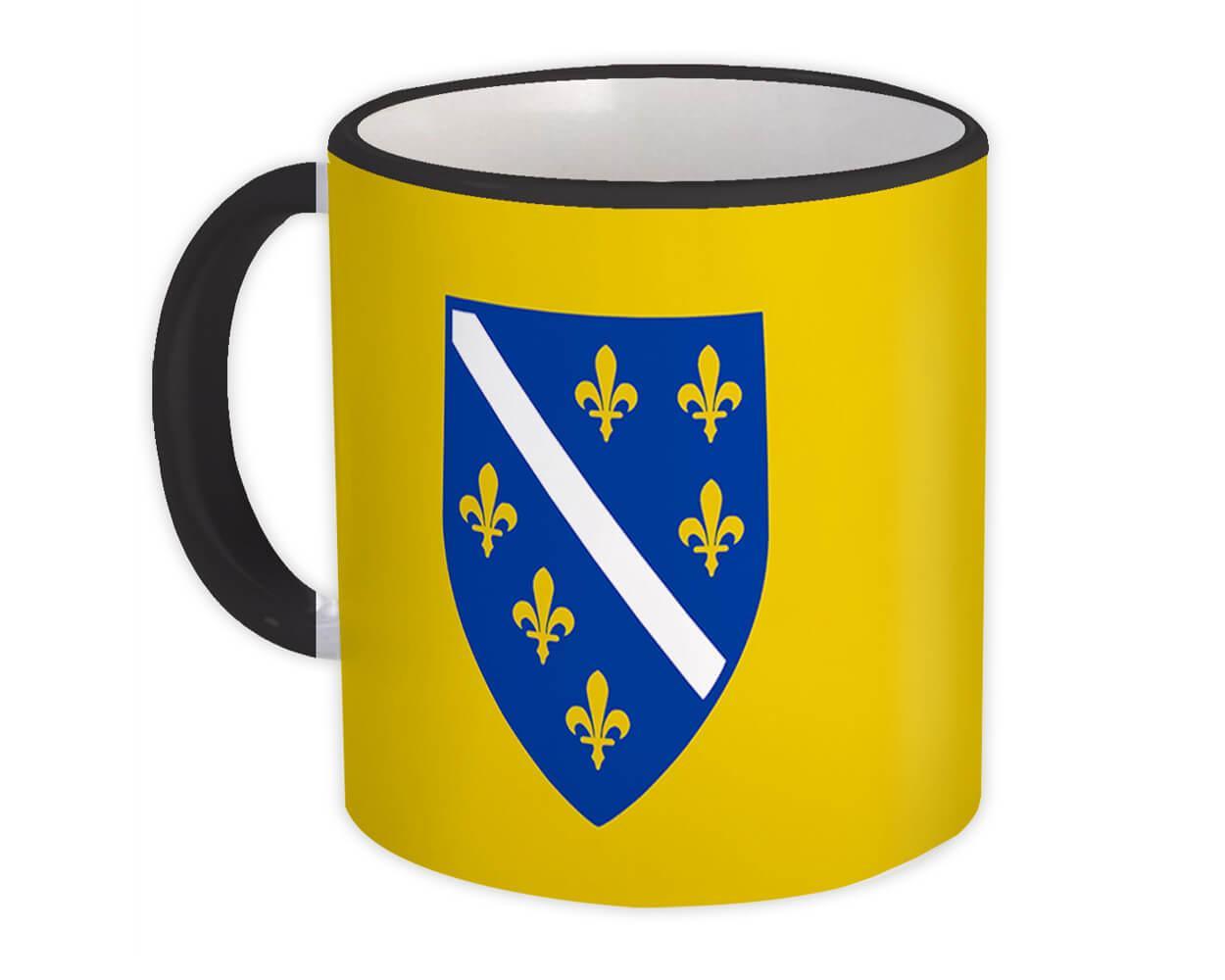 Bosnian Crest : Gift Mug Flag Bosnia Herzegovina Expat