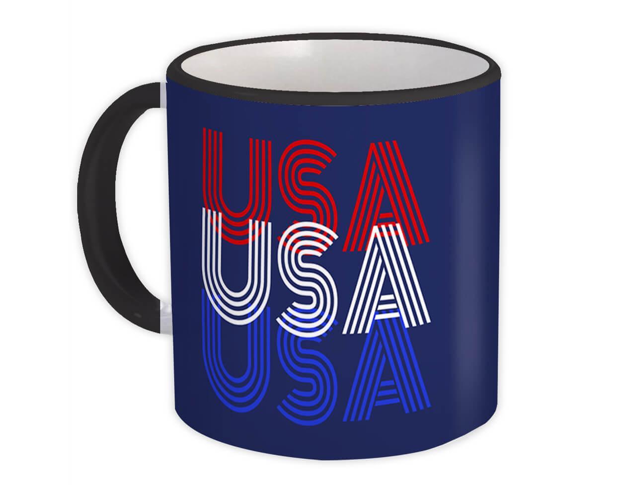 USA : Gift Mug United States Patriotic American Americana 4th July