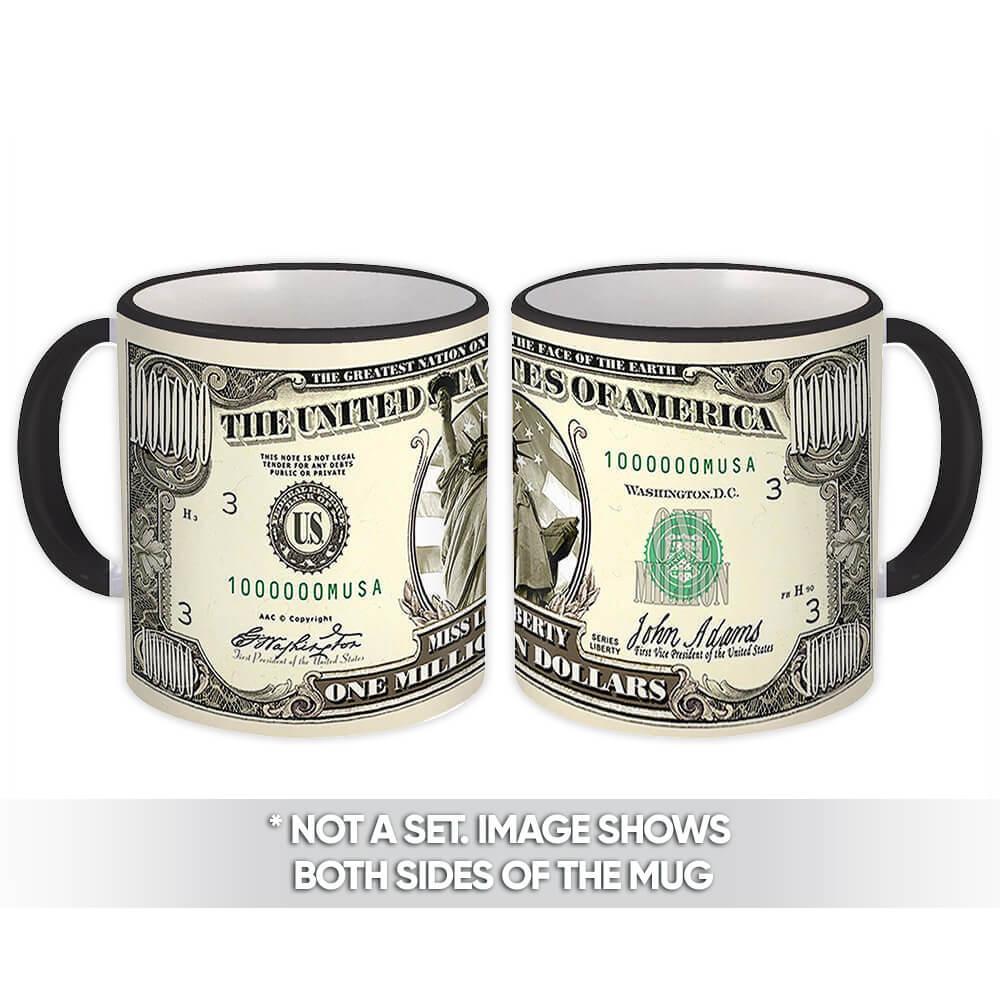 One Million Dollars : Gift Mug Lady Liberty Funny Note USA Friend