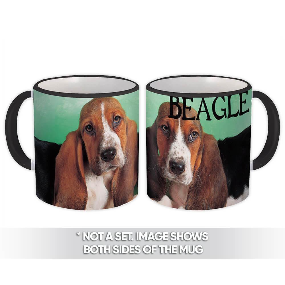Beagle : Gift Mug Lover Pet MOM DAD Dog Cute Photo Canine Pets Dogs