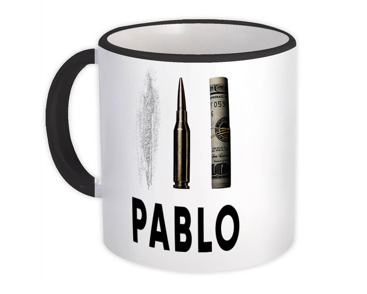 Pablo Escobar : Gift Mug Narcos Bullet Coke Dollar Money