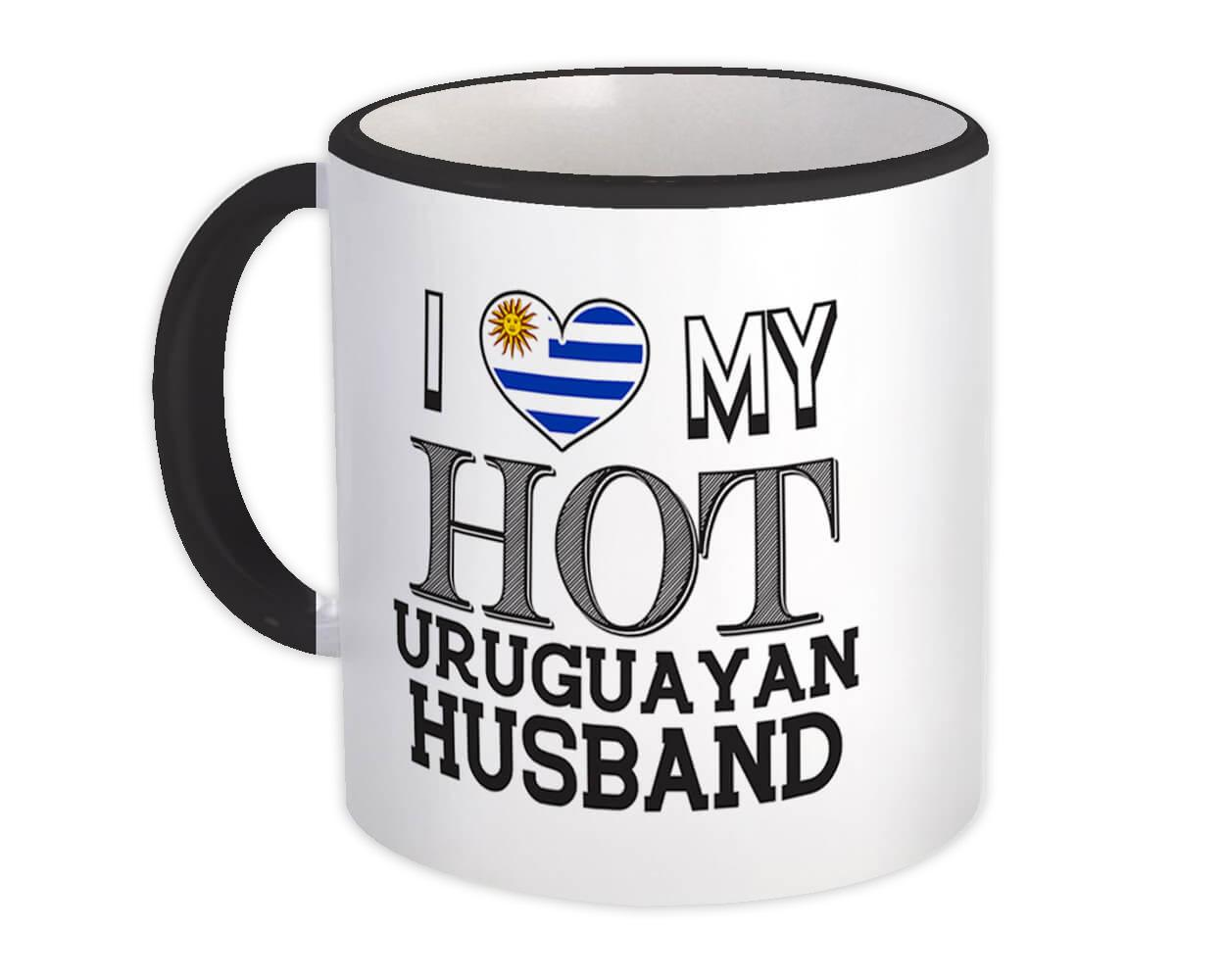 I Love My Hot Uruguayan Husband : Gift Mug Uruguay Flag Country Valentines Day