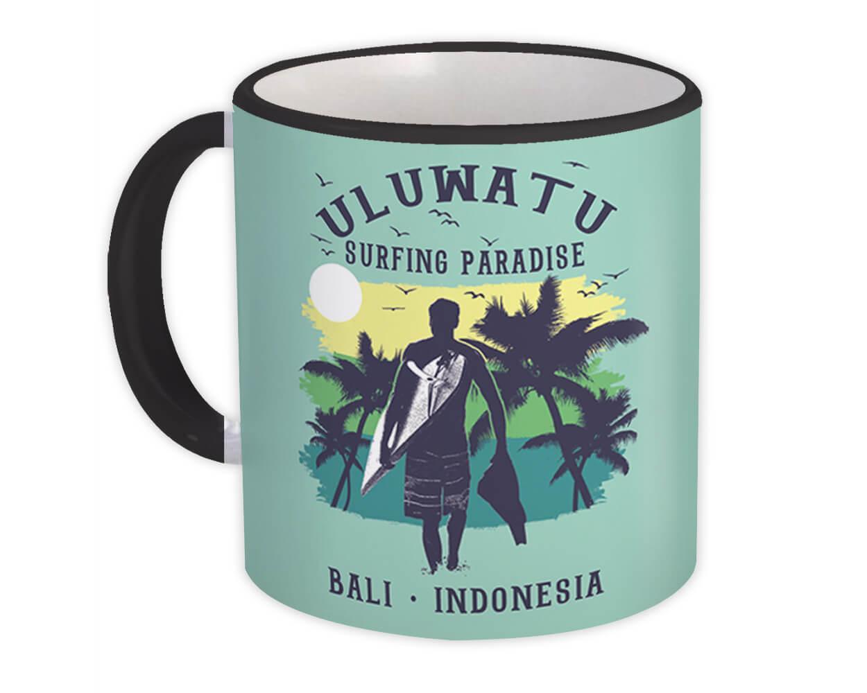 Uluwatu Bali : Gift Mug Indonesia Souvenir Surfing Surfer Beach