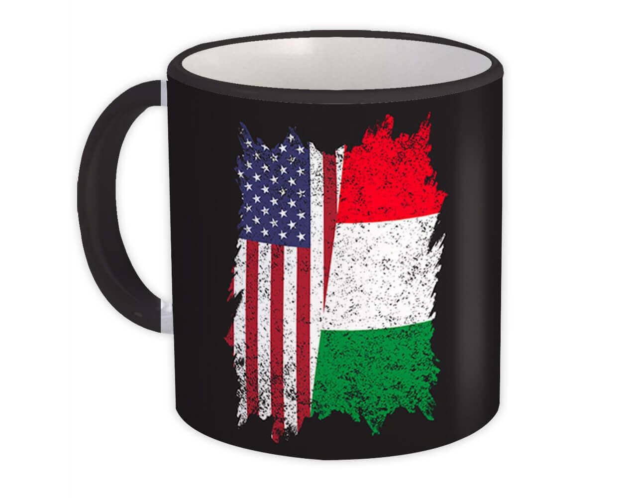 United States Italy : Gift Mug American Italian Flag Expat Mixed Country Flags