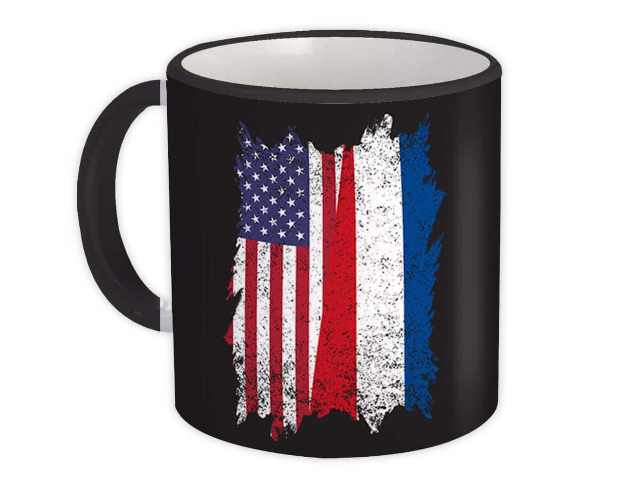 United States Netherlands : Gift Mug American Dutch Flag Expat Mixed Country Flags