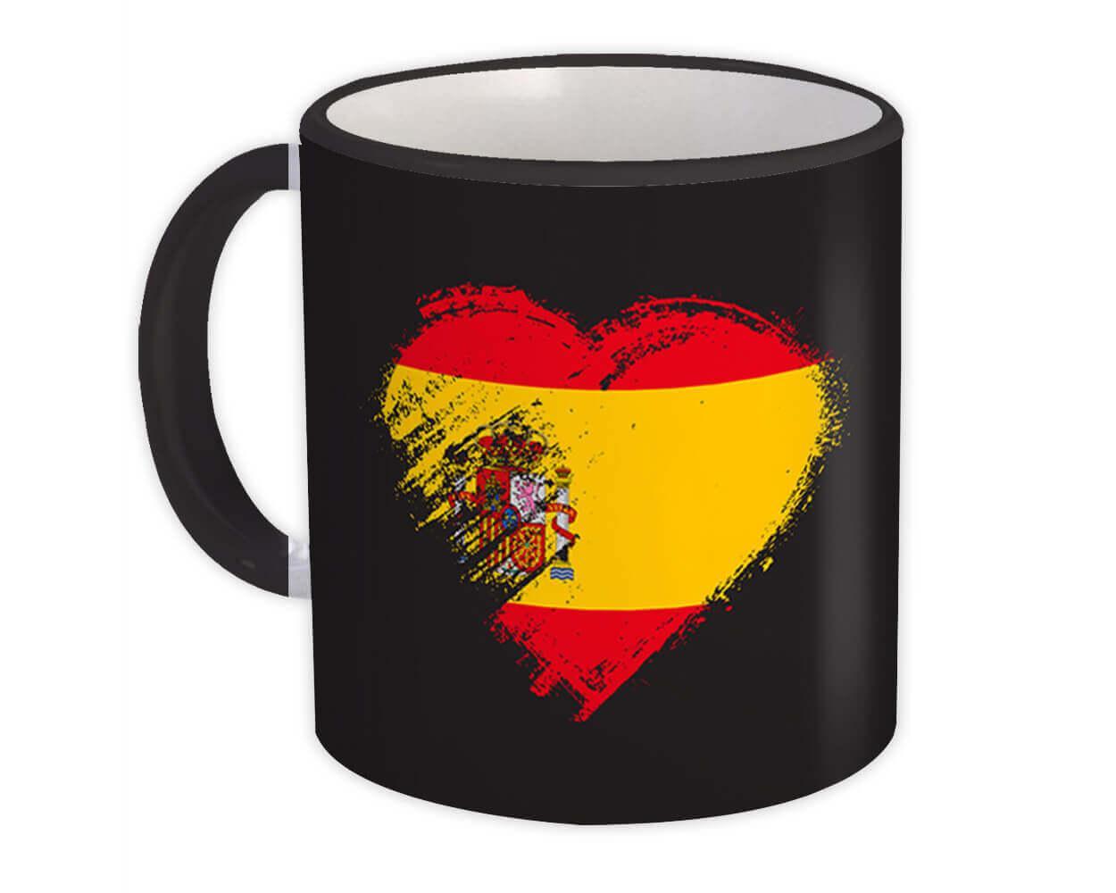 Spanish Heart : Gift Mug Spain Country Expat Flag Patriotic Flags National