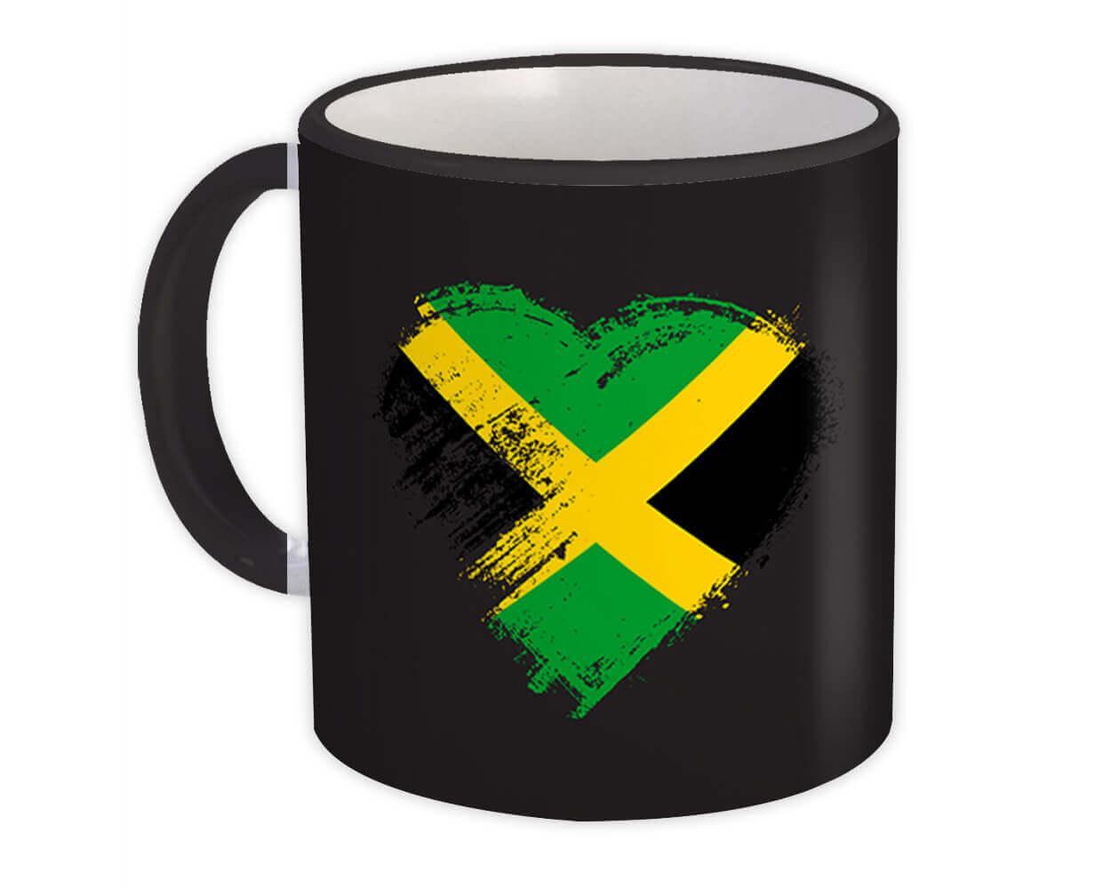 Jamaican Heart : Gift Mug Jamaica Country Expat Flag Patriotic Flags National