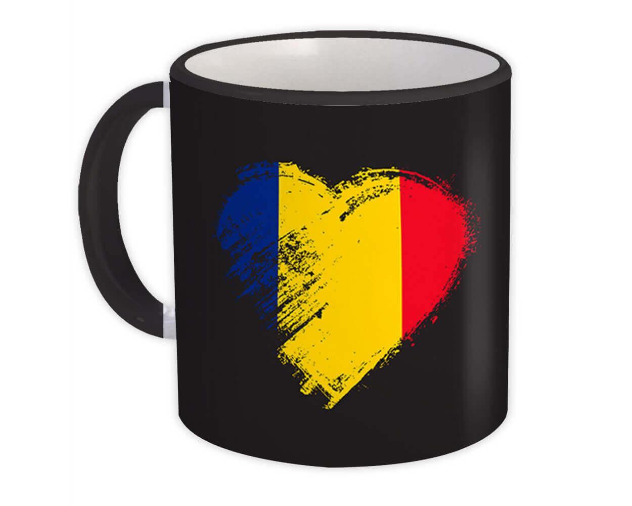 Romanian Heart : Gift Mug Romania Country Expat Flag Patriotic Flags National