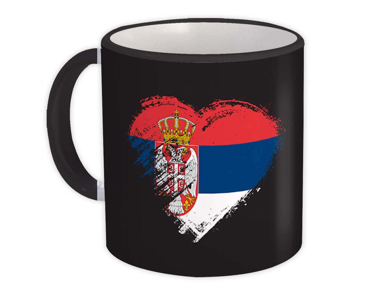 Serbian Heart : Gift Mug Serbia Country Expat Flag Patriotic Flags National