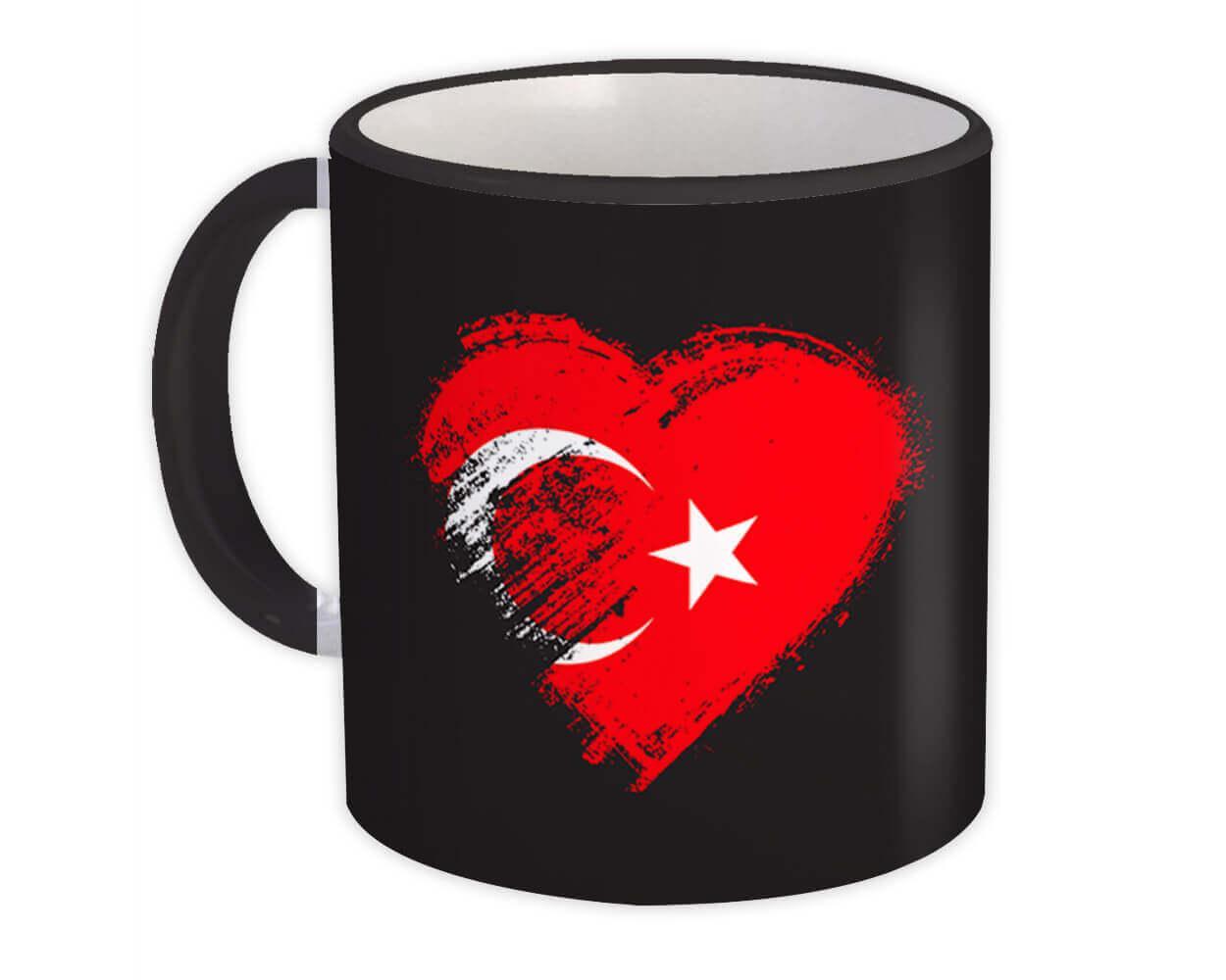 Turkish Heart : Gift Mug Turkey Country Expat Flag Patriotic Flags National