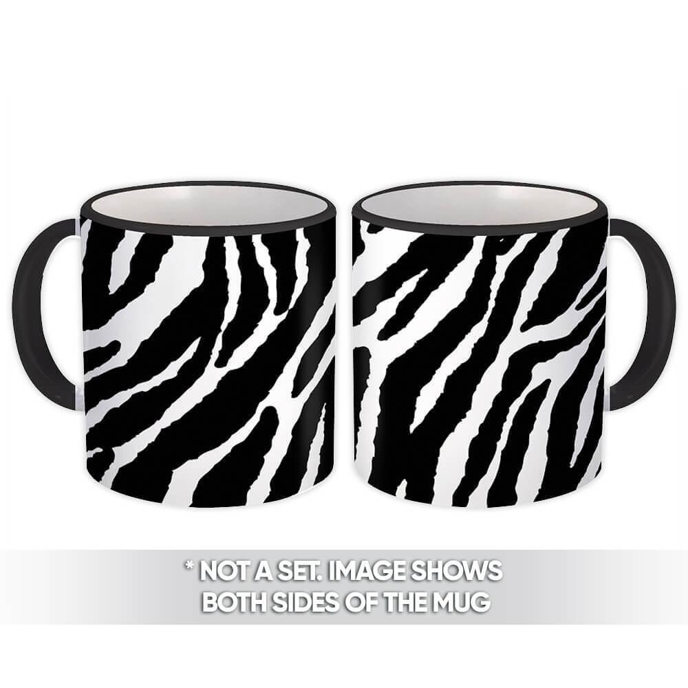 Zebra Animal Print : Gift Mug Pattern For Her Feminine Modern