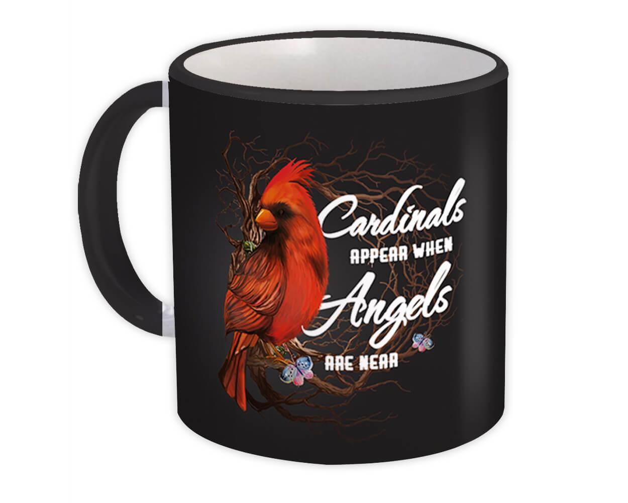 Cardinals Appear : Gift Mug Angels Are Near Bird Ecology Nature Aviary