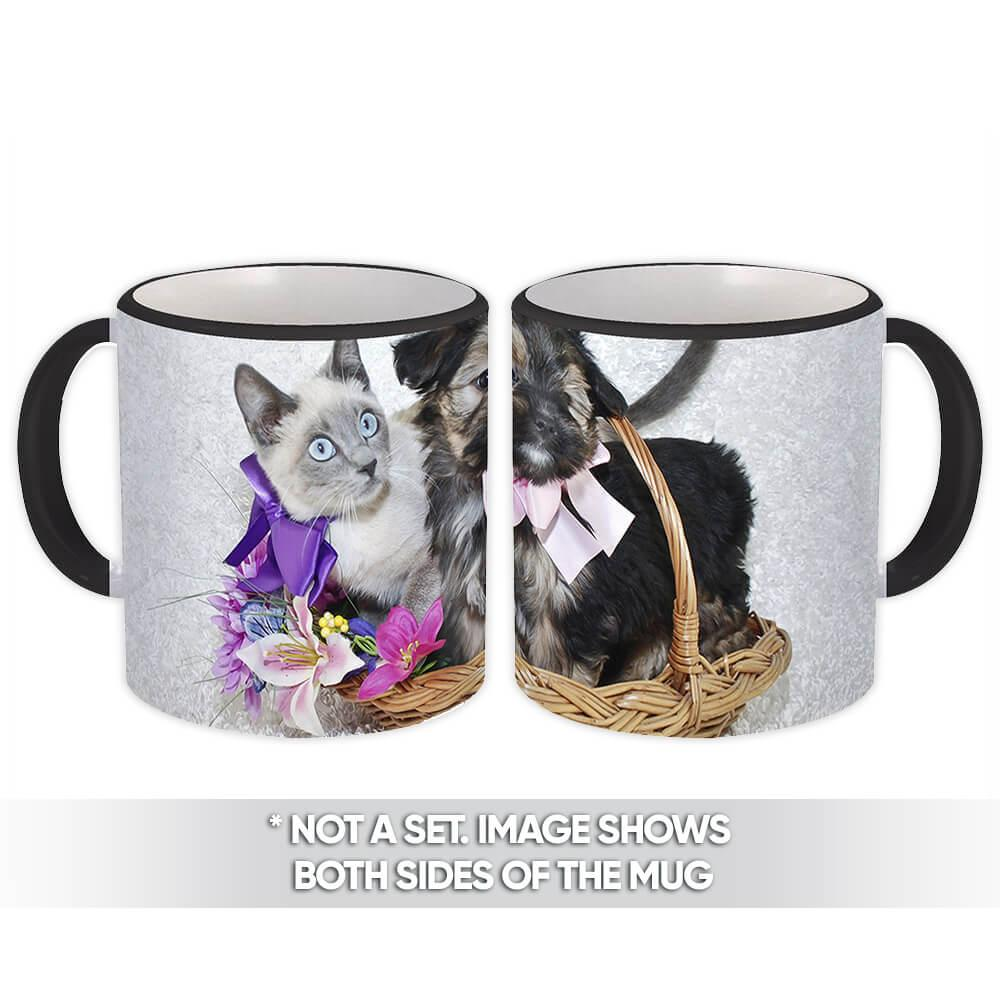 Dog & Cat : Gift Mug Pet Animal Puppy Friend Cut Funny Gift