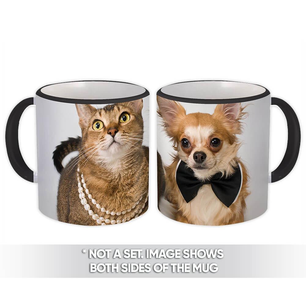 Dog & Cat : Gift Mug Pet Animal Puppy Chihuahua Funny Cute