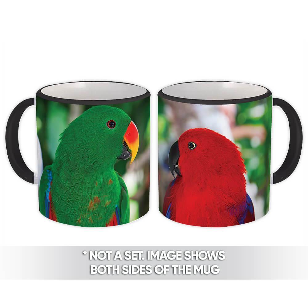 Parrot : Gift Mug Tropical Bird Nature Ecology Love Bird Agapornis Mexico