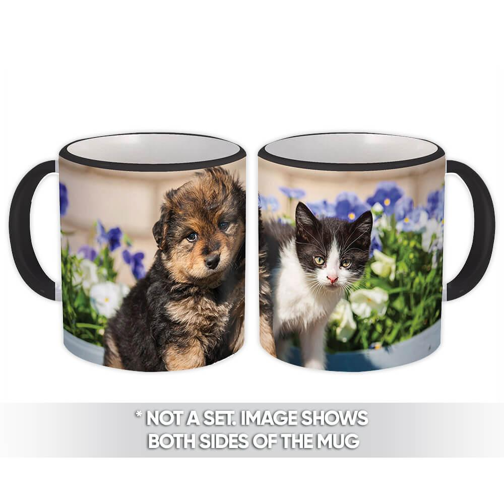 Dog & Cat : Gift Mug Pet Animal Puppy Kitten Canine Pets Dogs