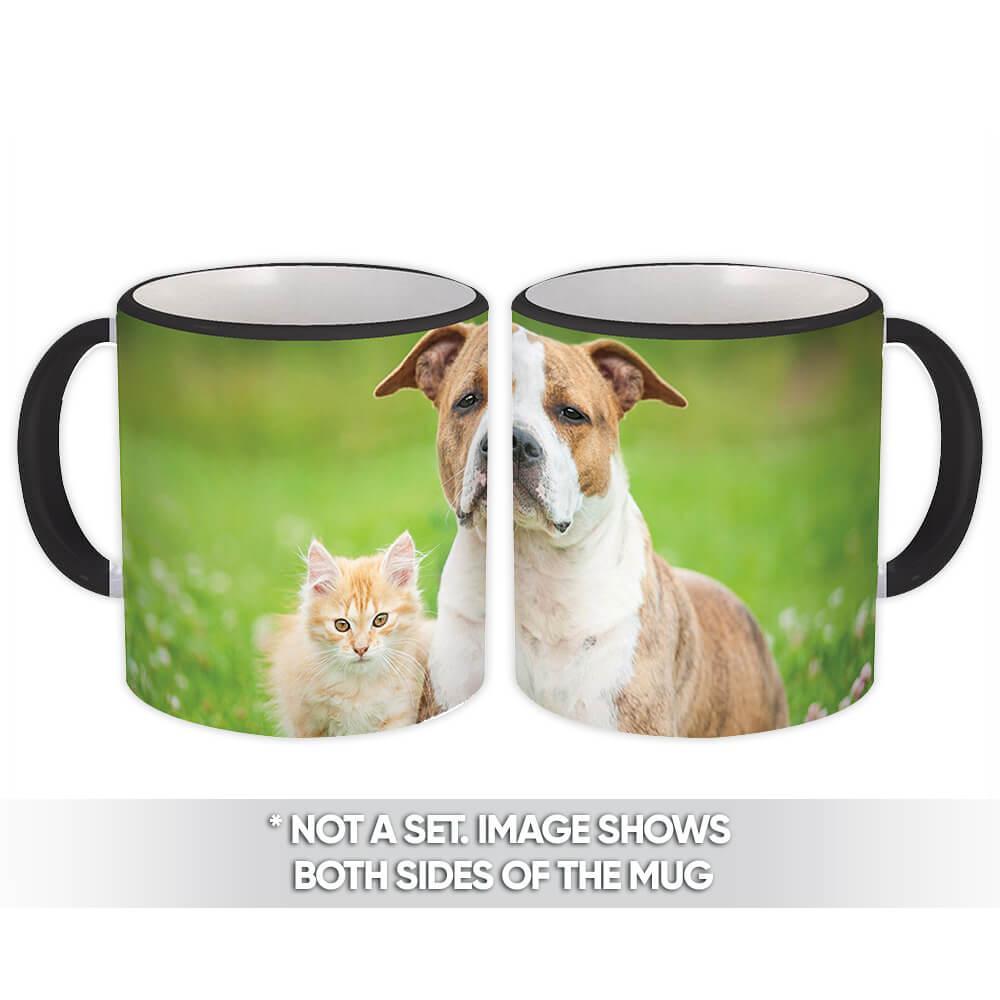 Dog & Cat : Gift Mug Pet Animal Puppy Kitten Cute Funny Friends