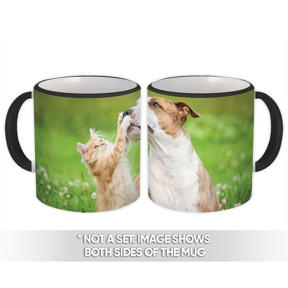 Dog & Cat : Gift Mug Pet Animal Puppy Kitten Cute Funny Friendship
