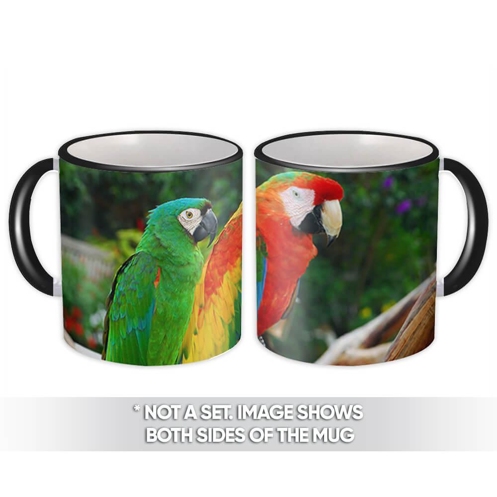 Macaws : Gift Mug Parrot Tropical Bird Animal Nature Cup