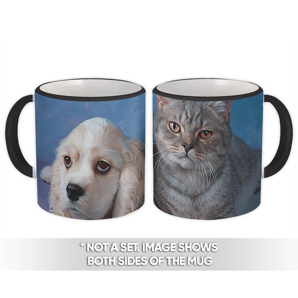 Dog & Cat : Gift Mug Pet Animal Puppy Kitten Friend Cute Funny