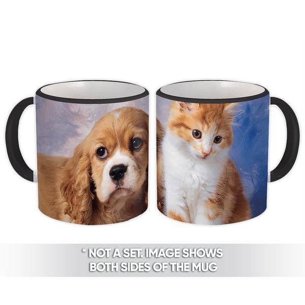 Dog & Cat : Gift Mug Pet Animal Puppy Cute Funny Kitten