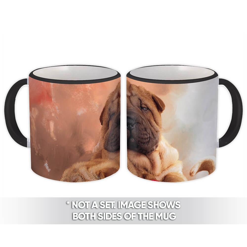 Sharpei Heart Box : Gift Mug Dog Valentines Pet Funny Cute