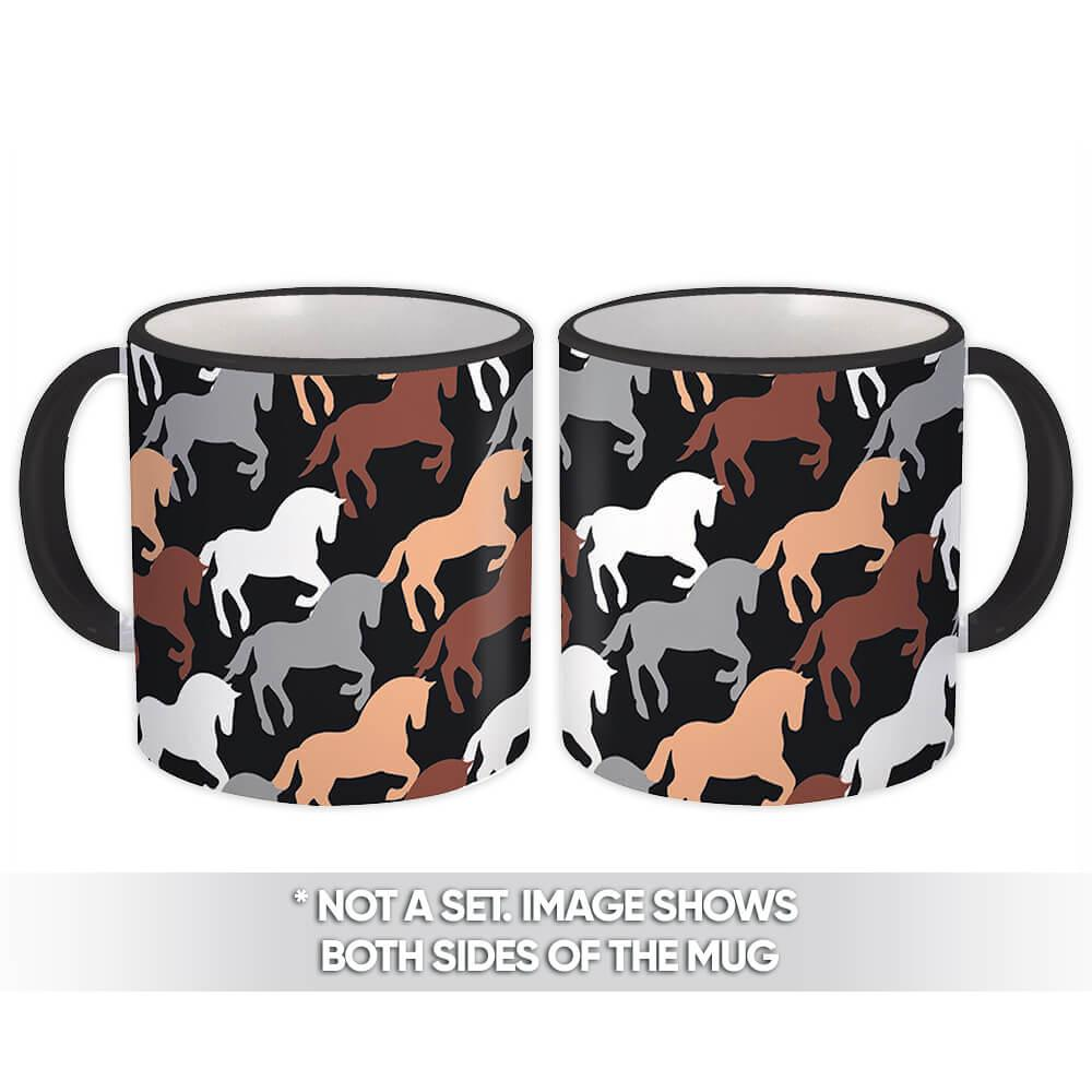 Horse Pattern : Gift Mug Polo Animal Fashion Furniture Decor Farm Father Husband Boss