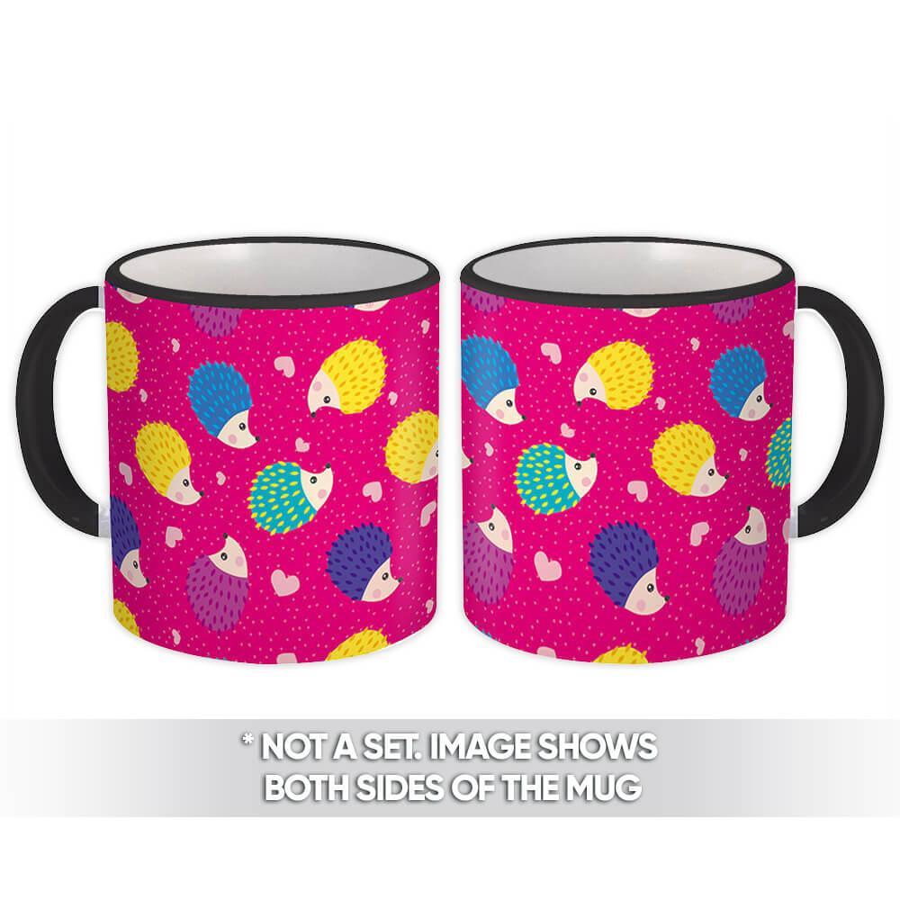 Cute Hedgehog : Gift Mug Baby Shower Kid Forest Animal Nursery Pattern Revelation Toddler